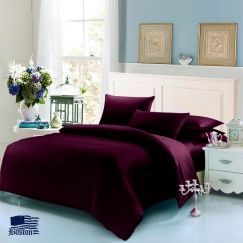 Постельное белье Boston Jefferson Sateen Dark Plum 145x210